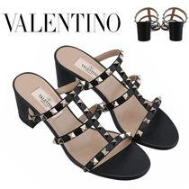 VALENTINO正規品/EMS発送/送料込みRock Stud Mule Sandals Black