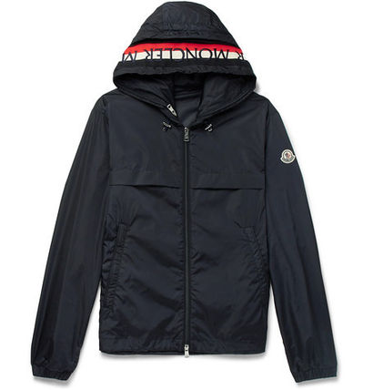 MONCLER☆2018SS ロゴ入りフードパーカー