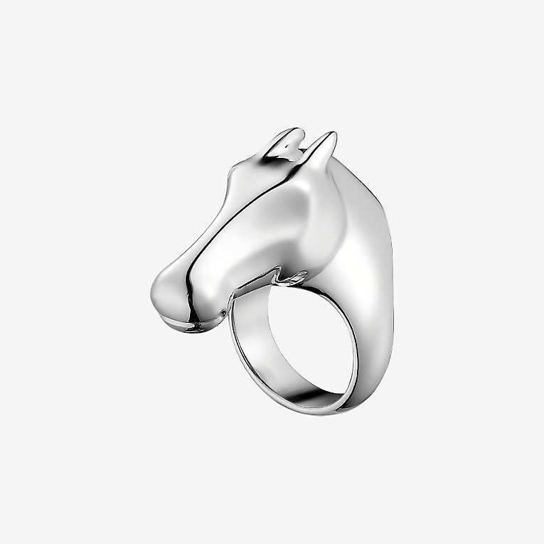 【直営店買付】エルメス Galop Hermes ring, large model