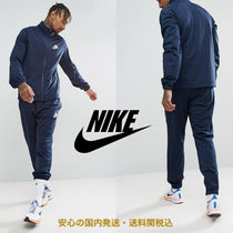 Nike Polyknit Tracksuit Set In Navy♪