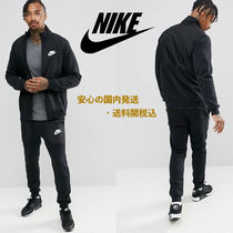 Nike Mixed Fleece Tracksuit Set In Black♪