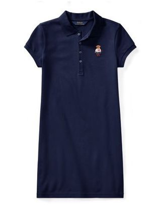 新作!大人もOK ♪ 2色Polo Bear Mesh Polo Dress girls 7~16