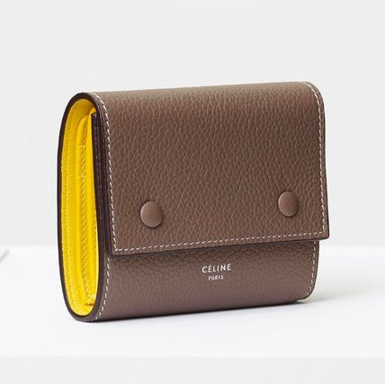 SMALL FOLDED MULTIFUNCTION IN DRUMMED CALFSKIN - SOURIS