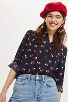 《キュートなチェリー♪》☆TOPSHOP☆Cherry Print Casual Shirt