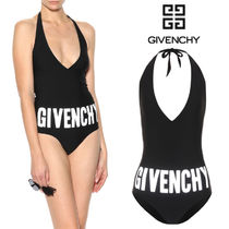 【18SS】大注目!!★GIVENCHY★Printed halter swimsuit