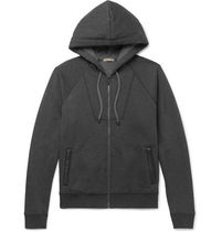 Intrecciato Trimmed Cotton & Wool-Blend Hoodie パーカー