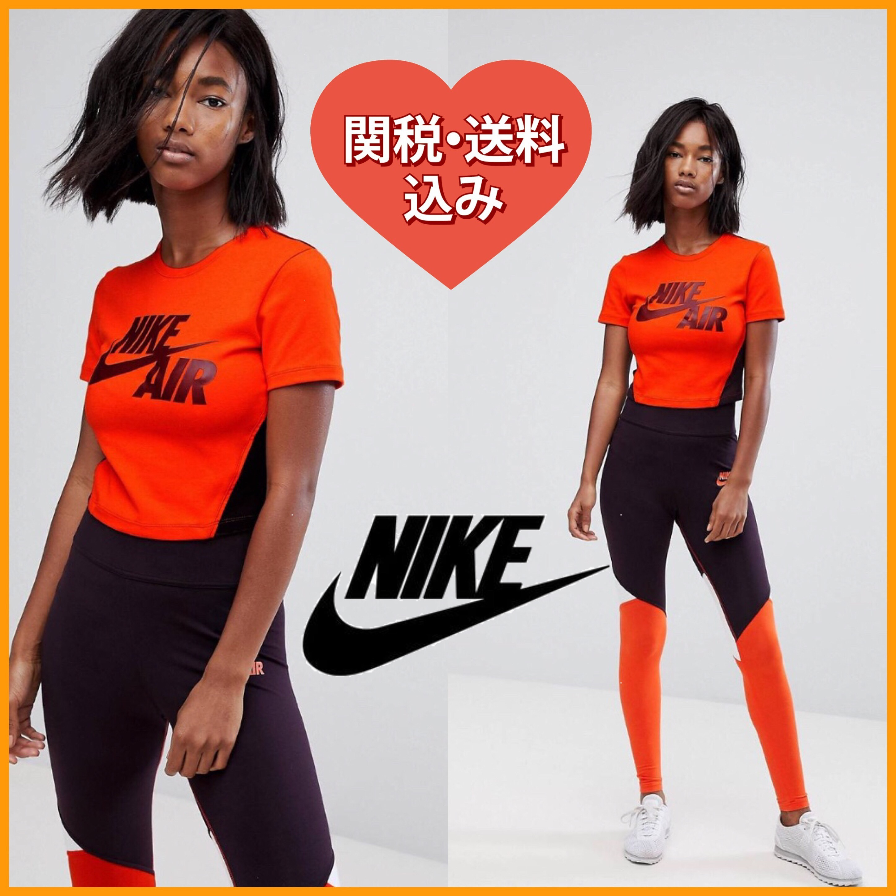 国発[関税送込]Nike Cropped T-Shirt In Orange