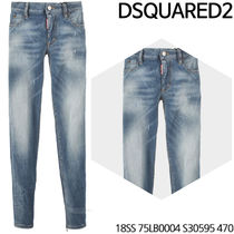 D SQUARED 2★Red Steel Patch Jeans 18SS 75LB0004 S30595 470