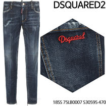 D SQUARED 2★Red Steel Patch Jeans 18SS 75LB0007 S30595 470