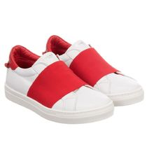 Givency/White&Red Leather trainers