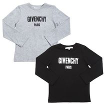 GIVENCHY(ジバンシィ) キッズ用トップス 大人OK★GIVENCHY★2018SS★ロゴ入長袖Tシャツ/2色★6Y~12Y