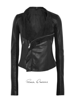[ RICK OWENS ] Leather biker jacket 送料関税込