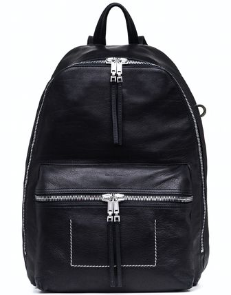 18SS RO176 CALF LEATHER BACKPACK WITH CONTRAST STITCH