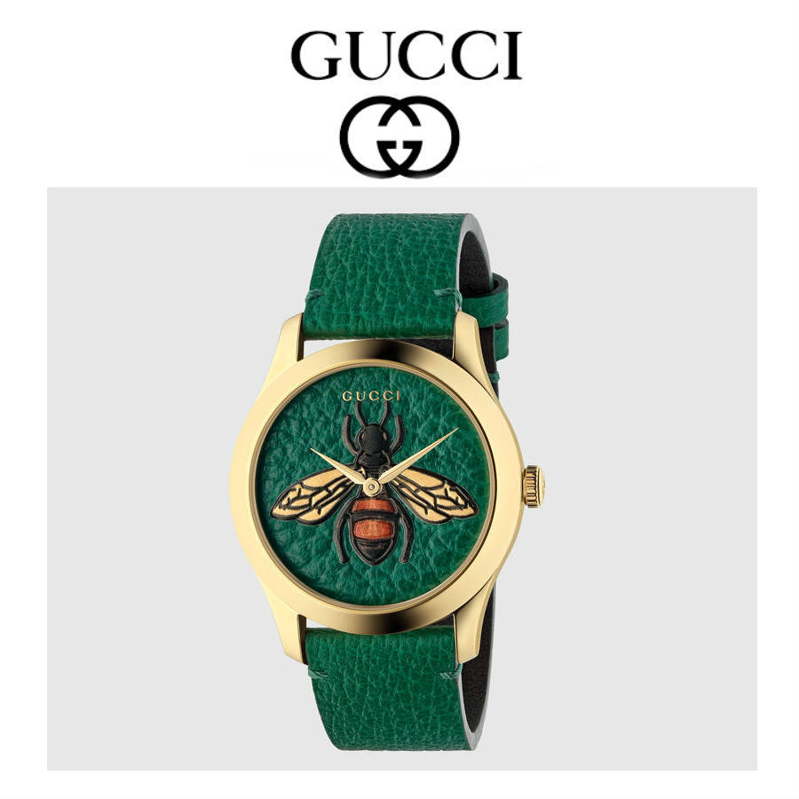 関税込★GUCCI★G-Timeless BEE グリーン 38mm