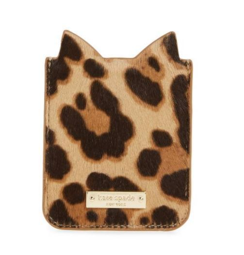 Kate spade◆iPhone7/8対応ステッカーポケット*アニマルキャット