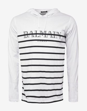 送料関税込!2018AW新作 BALMAIN Long Sleeve Logo T-Shirt
