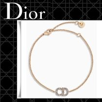 ☆DIOR☆CLAIR D LUNE クリスタル ロゴ&チェーン ブレスレット