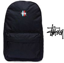 【STUSSY】AUS発バックパックBars Logo Beachpack Black