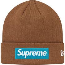 国内送込 17fw Supreme New Era Box Logo Beanie rust brown
