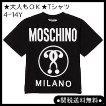 モスキーノKid's 4-14Y Glow in Dark Branded Milano Tシャツ BL