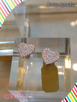 Kate spade☆yours truly pave heart studsハートピアス