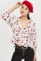 《レトロガールに♪》☆TOPSHOP☆Spot and Cherry Print Blouse