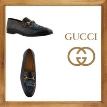 ★GUCCI《グッチ》 WOLF DETAIL LEATHER LOAFERS  送料込み★