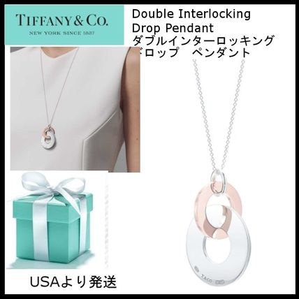ティファニー1837Double Interlocking Drop Pendant Metal(S)
