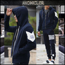 【MONCLER GAMME BLEU】17AW ロゴパッチフードジップアップ /EMS