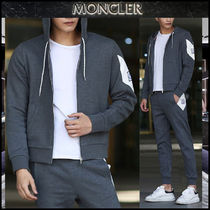 【MONCLER GAMME BLEU】17AW ロゴパッチ フードジップアップ/EMS