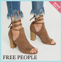 【Free People】Vカット スエードレースアップブロックヒール☆