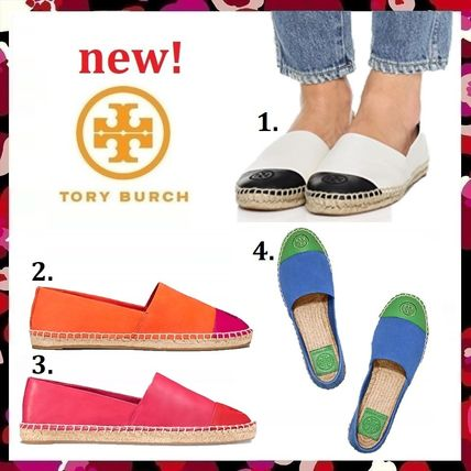 Tory Burch フラットシューズ セール 新作 Tory Burch COLOR BLOCK FLAT ESPADRILLE