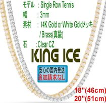 "LA発ストリート☆King Ice☆HipHopチェーン CZ Tennis 3mm 18"" -"