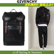 18SS,関税込★GIVENCHY nylon and faux leather backpack