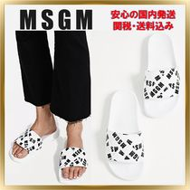最新作◇MSGM◇ Multi Strap Logo Pool Slides 【関税送料込】
