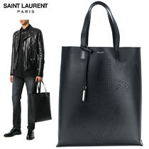 【正規品保証】SAINT LAURENT★18春夏★LOGO SHOPPINGTOTE_BLACK