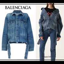 技あり◇ロゴ Denim Jacket◇BALENCIAGA