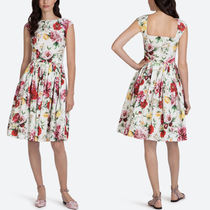 18SS DG1416 FLORAL PRINT COTTON POPLIN DRESS
