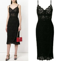 18SS DG1418 CORD LACE MIDI DRESS WITH SCALLOP DETAIL