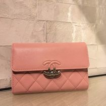 ★2018 CHANEL 最新作★CC box double Wallet in pink