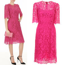 18SS DG1419 LACE MIDI DRESS WITH SCALLOP DETAIL