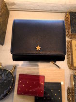 New SS2018◆DIOR Compact Star Wallet Black◆