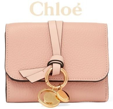 Chloe 折りたたみ財布 ★関税負担★CHLOE★EMBELLISHED TEXTURED-LEATHER WALLET