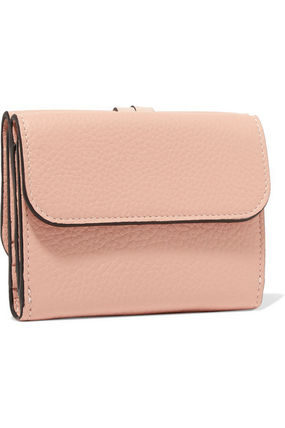 Chloe 折りたたみ財布 ★関税負担★CHLOE★EMBELLISHED TEXTURED-LEATHER WALLET(3)