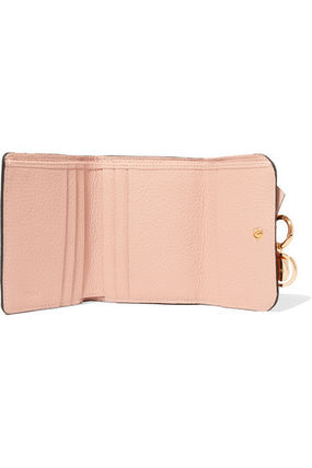 Chloe 折りたたみ財布 ★関税負担★CHLOE★EMBELLISHED TEXTURED-LEATHER WALLET(5)