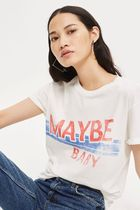 《ナイスな白T♪》☆TOPSHOP☆'Maybe Baby' Slogan T-Shirt