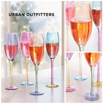 Urban Outfitters☆Assorted Colorblock Flute Glass Set 税送込
