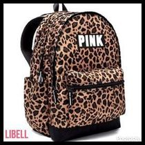 PINK  leopard backpack レオパード バックパック キャンパス