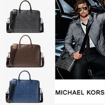 ☆ Michael Kors☆Harrison Crosshatch Leather ブリーフケース