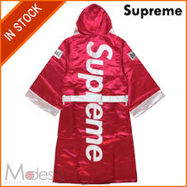 【日本国内発送】SUPREME EVERLAST SATIN HOODED BOXING ROBE赤M